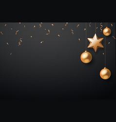 christmas background with christmas ball star vector image