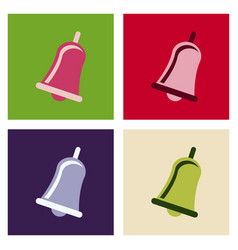 Christmas bells church bell - school bell icon vector