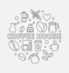 Coffee house round cafe vector