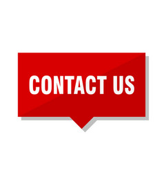 contact us red tag vector image