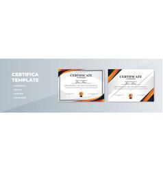 creative certificate appreciation award vector image