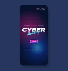 cyber monday big sale advertisement online vector image
