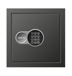 digital safe icon realistic style vector image