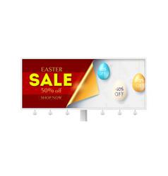 festive easter sale on billboard corner paper vector image