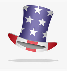 Flag of usa on a hat vector