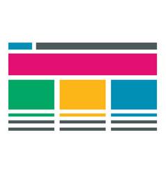 flat web development concept content adaptive vector image