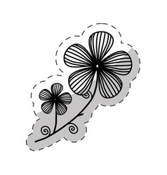 Flower decoration image cut line vector