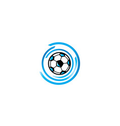 Football icon blue for logo design isolated on vector