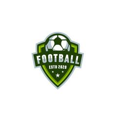 football shield logo vector image