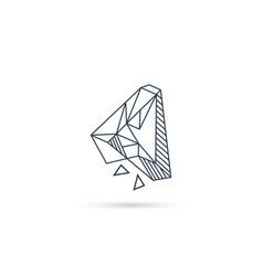 Gemstone letter a logo design icon template vector