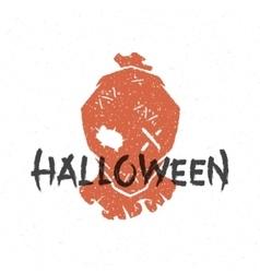 Halloween silhouette scarecrow head vector
