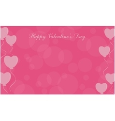 Happy Valentine Day love balloon background vector image