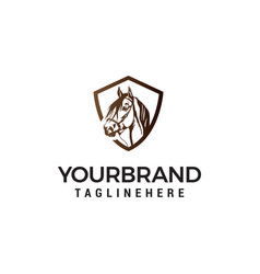 head horse logo design concept template vector image