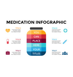 Healthcare infographic medical diagram vector