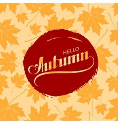 Hello Autumn Seasonal vector
