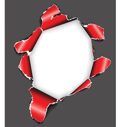 Hole in the sheet of paper vector