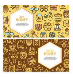 honey signs banner card horizontal set vector image