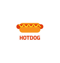 hotdog logo graphic design template vector image