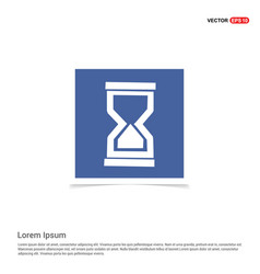 hour glass icon - blue photo frame vector image