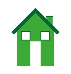 House silhouette real estate icon vector