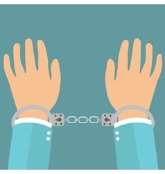 human rights freedom hands under wire vector image