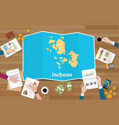 Incheon south korea city region economy growth vector