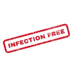 Infection Free Text Rubber Stamp vector