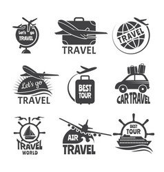 label or logos forma travelling theme vector image