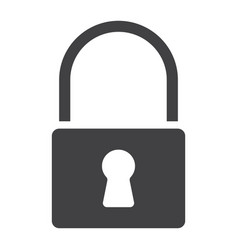 lock glyph icon web and mobile security sign vector image vector image