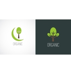 Logo label in flat minimal style vector