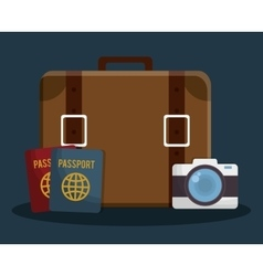 Luggage travel icon image vector
