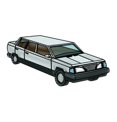 luxury vehicle stretch car limousine view vector image