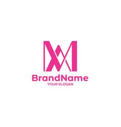 Ma pink logo design vector