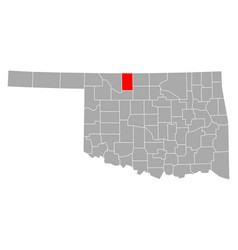 map alfalfa in oklahoma vector image