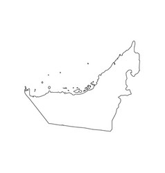 map united arab emirates icon outline map vector image