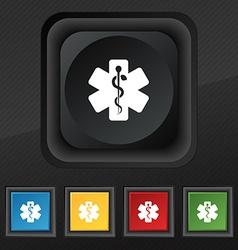 Medicine icon symbol Set of five colorful stylish vector image