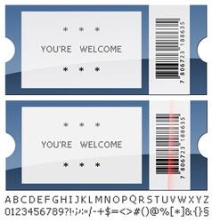 Modern shiny tickets vector