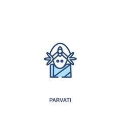 Parvati concept 2 colored icon simple line vector