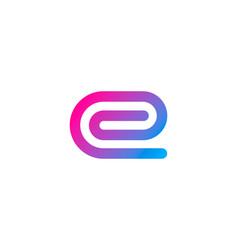 Pixel letter e logo icon design vector