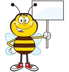 Protesting Bumble Bee Cartoon vector