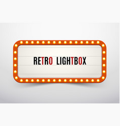 Retro lightbox billboard vintage frame vintage vector