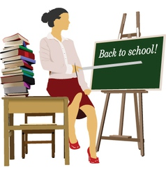 school teacher vector image
