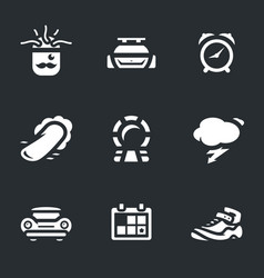 set time machine icons vector image