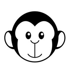 simple cartoon a cute monkey vector image