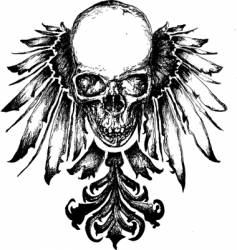 skull heraldry vector image