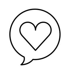 Speech bubble message line icon vector