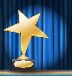 Star trophy vector