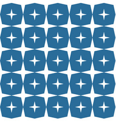 stars shape pattern dark blue background vector image