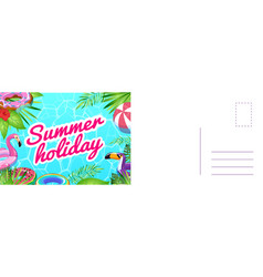 summer holiday card card with tropical leaves vector image