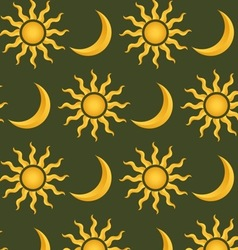 sun and moon pattern vector image